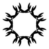 Абстрактная спиральная форма Элемент свирли с радиальными линиями Аннотация Стоковые Изображения