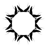 Абстрактная спиральная форма Элемент свирли с радиальными линиями Аннотация Стоковое фото RF