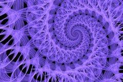 Абстрактная спираль шнурка на черной предпосылке Стоковые Изображения RF