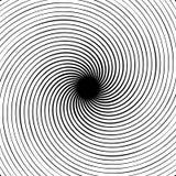 абстрактная спираль элемента Концентрический, радиальный, излучающ линии Ab Стоковая Фотография RF
