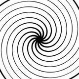 абстрактная спираль элемента Концентрический, радиальный, излучающ линии Ab Стоковое Фото