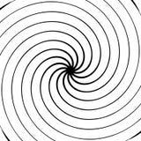 абстрактная спираль элемента Концентрический, радиальный, излучающ линии Ab Стоковое Изображение