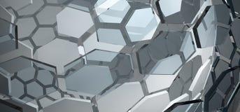 Абстрактная стеклянная предпосылка шестиугольника Стоковое Фото