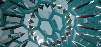 Абстрактная стеклянная предпосылка шестиугольника Стоковая Фотография