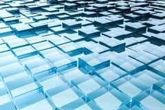 Абстрактная стеклянная предпосылка кубов иллюстрация штока