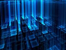 Абстрактная стеклянная предпосылка техника - цифров произведенное изображение иллюстрация штока