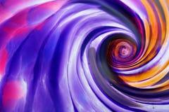Абстрактная стеклянная спираль стоковое фото