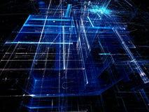 Абстрактная стеклянная структура - цифров произведенное изображение бесплатная иллюстрация