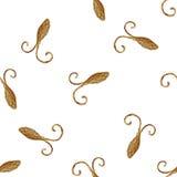 Абстрактная стилизованная картина тараканов Нарисованная рукой предпосылка жуков Текстура золота насекомых Стоковое Изображение