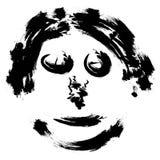 Абстрактная сторона, человек портрета стороны вектора щетки притяжки руки страшный, пугающие дети на хеллоуине party, неприятное  Стоковое Фото