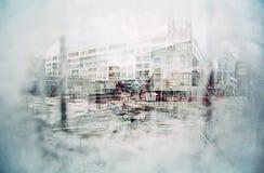абстрактная строительная площадка Стоковые Изображения RF