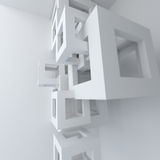 Абстрактная строительная конструкция белизны архитектуры Стоковая Фотография RF