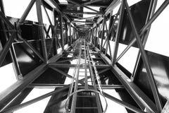 Абстрактная структура металла в черно-белом Стоковая Фотография