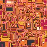 Абстрактная структура techno - безшовная картина вектора Стоковое Фото