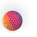 Абстрактная сфера с полигонами иллюстрация штока