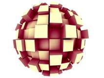 абстрактная сфера 3d Стоковое фото RF