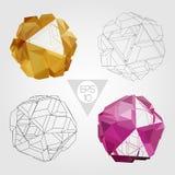 абстрактная сфера 3d вектор комплекта сердец шаржа приполюсный Стоковые Фотографии RF