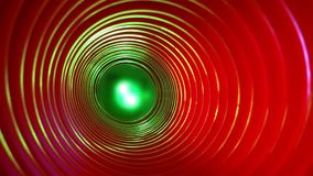 Абстрактная схематическая предпосылка с футуристическим высокотехнологичным тоннелем червоточини сток-видео