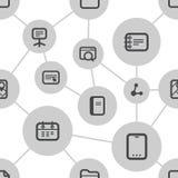 Абстрактная схема средств массовой информации с современными значками Стоковые Изображения RF
