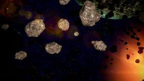 Абстрактная сцена космоса иллюстрация штока