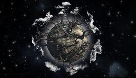 Абстрактная сцена планеты Стоковые Изображения