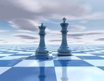 Абстрактная сюрреалистическая предпосылка с диаграммами шахмат Стоковая Фотография
