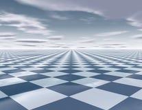 Абстрактная сюрреалистическая предпосылка с chessboarda Стоковое фото RF
