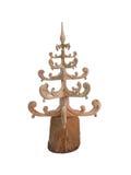 Абстрактная творческая высекаенная древесина рождественской елки изолированной над белизной Стоковые Фото