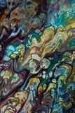 Абстрактная творческая покрашенная предпосылка с акрилами стоковое изображение