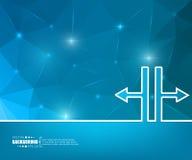 Абстрактная творческая предпосылка вектора концепции Для сети и передвижных применений, дизайн шаблона иллюстрации, дело Стоковые Изображения RF