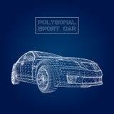 Абстрактная творческая предпосылка вектора концепции модели автомобиля 3d сетка автомобиля резвится вектор бесплатная иллюстрация