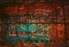 Абстрактная творческая предпосылка - линии, свет и цвет Красный цвет и зеленый цвет Стоковые Фото