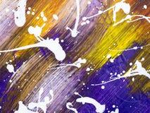Абстрактная творческая рука покрасила предпосылку с ходами щетки Стоковые Изображения RF