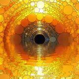 Абстрактная текстура захода солнца мозаики стоковые фото