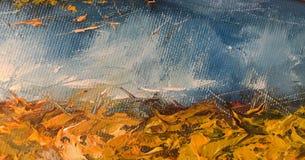 Абстрактная текстура краски масла на холсте, крася предпосылке покрашенная текстура Стоковая Фотография