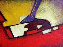 Абстрактная текстура краски масла на холсте стоковая фотография