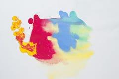 Абстрактная текстура краски цвета воды Стоковое Фото