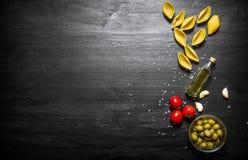абстрактная текстура макаронных изделия еды предпосылки Стоковые Изображения RF