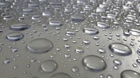 Абстрактная текстура падения воды на таблице после дождя Стоковое Изображение RF