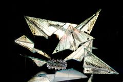 абстрактная текстура стекла треугольников Стоковое фото RF