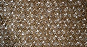 абстрактная текстура ткани конструкции конца предпосылки вверх по сети Стоковые Изображения