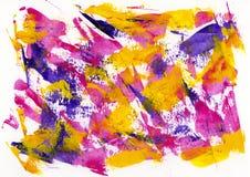 Абстрактная текстура цвета картины, акриловая предпосылка цвета, нож Стоковые Изображения RF