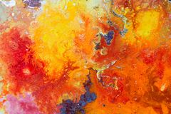 Абстрактная текстура цвета картины Яркая художническая предпосылка в r стоковые фото