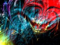 Абстрактная текстурированная предпосылка сердца, обои бесплатная иллюстрация