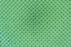 абстрактная текстурированная предпосылка Waffle зеленого цвета Colourfull конец вверх Плоское положение Стоковое Изображение RF