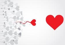 абстрактная тема влюбленности предпосылки иллюстрация вектора