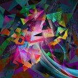 Абстрактная темная картина искусства grunge технологии Стоковые Фото
