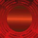 Абстрактная темнота - красная техническая предпосылка круга Стоковые Фотографии RF