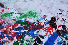Абстрактная темнота - красные оранжевые черные розовые цвета и оттенки голубого серого цвета Абстрактная влажная предпосылка крас стоковые фотографии rf