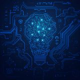 Абстрактная технологическая электрическая лампочка Стоковое Изображение
